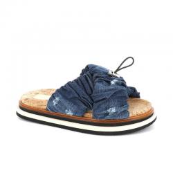 hogan nouveautés sandales Sandales SlidesHF SLIDES - TISSUS - JEAN