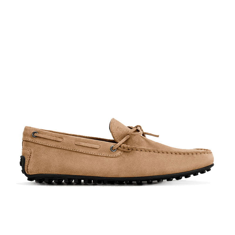 tod's mocassins et slippers Mocassins City Gommino à lacetsBABYLONE 3 - NUBUCK - BEIGE