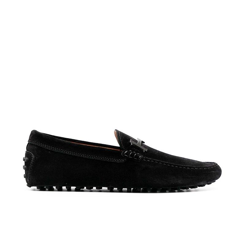 tod's mocassins et slippers Mocassins gommino double tGOMME T2 - NUBUCK - NOIR