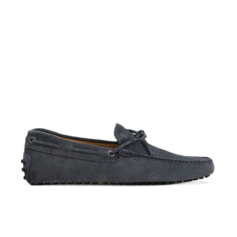 tod's mocassins et slippers Mocassins Gommino à LacetsTODNEU - NUBUCK - ANTHRACITE (2)
