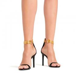 giuseppe zanotti promotions sandales Sandales à talon 100 mmGZ F SAND BRACELET10 - VERNIS ET
