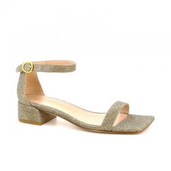 stuart weitzman promotions sandales SandalesSW NUDISTJUNE - PLATINUM - DORÉ