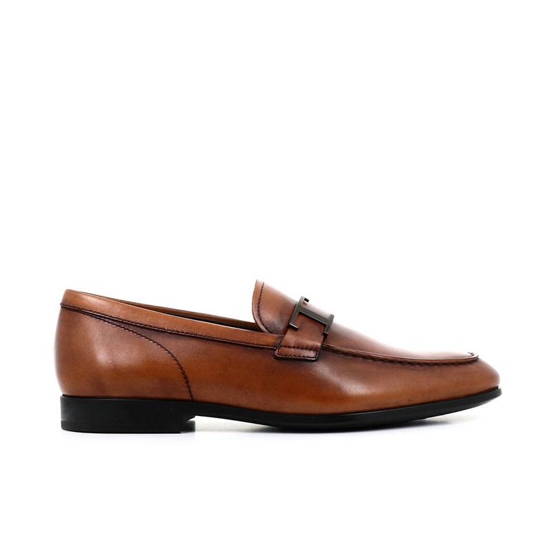 tod's mocassins et slippers Mocassins Double TRIALTO 3T - CUIR PATINÉ - GOLD E