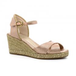 stuart weitzman nouveautés sandales Sandales Compensées MirelaSW COMP MIRELA - CUIR IRISÉ - RO