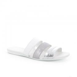 hogan nouveautés sandales Sandales SlidesVALMA (2) - CUIR - BLANC ET ARGE