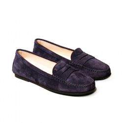 tod's mocassins & slippers Mocassins City GomminoBROKA - NUBUCK - MARINE