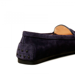 tod's mocassins & slippers Mocassins City GomminoBROKA - NUBUCK - MARINE