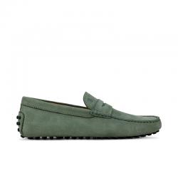 tod's mocassins et slippers Mocassins GomminiGOMMINI 3 - NUBUCK - VERT D'EAU