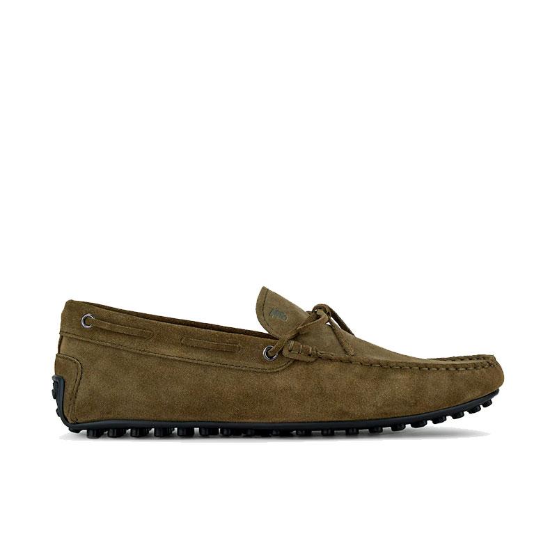 tod's mocassins et slippers Mocassins City Gommino à lacetsBABYLONE 3 - NUBUCK - MILITAIRE