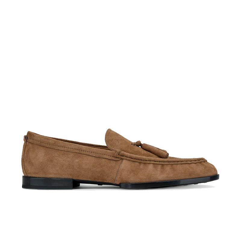 tod's mocassins et slippers Mocassins RivieraRIVIERA 2 - NUBUCK - TAUPE