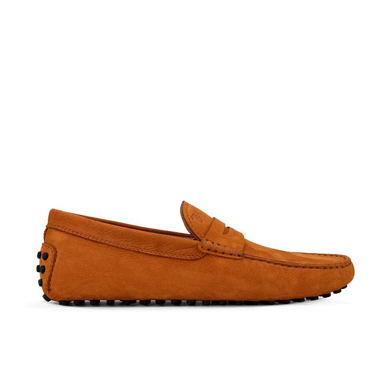 tod's mocassins et slippers Mocassins GomminiGOMMINI 3 - NUBUCK - ORANGE