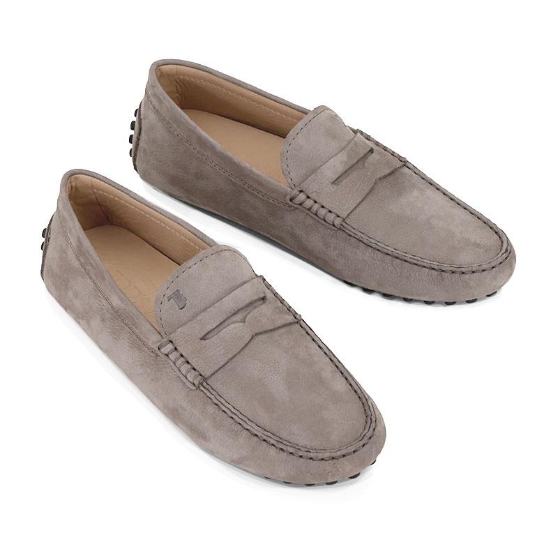 tod's mocassins et slippers Mocassins GomminiGOMMINI 3 - NUBUCK - BEIGE TAUPÉ
