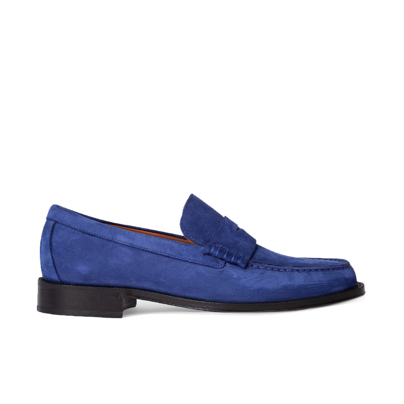 paul smith mocassins et slippers Mocassins LuckyPS MOCASSIN LUCKY - NUBUCK - BLE