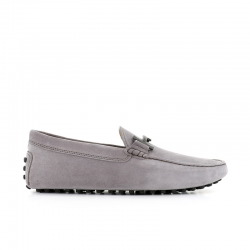 tod's mocassins et slippers Mocassins gommino double tGOMME T2 - NUBUCK - GRIS CLAIR