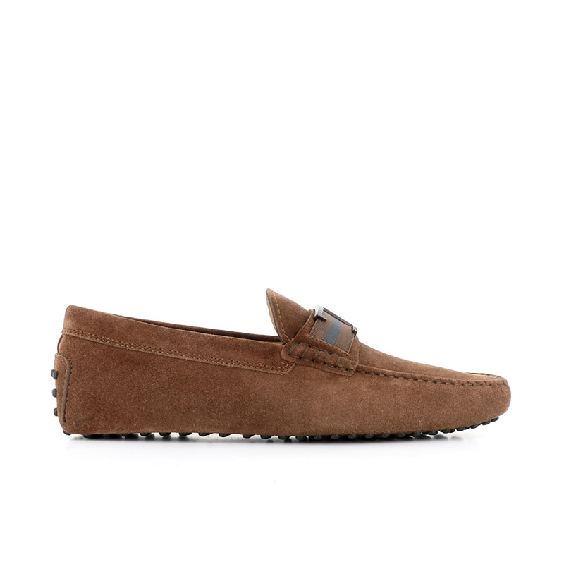 tod's mocassins et slippers Mocassins gommino double tGOMME T2 - NUBUCK - BISCUIT ET A