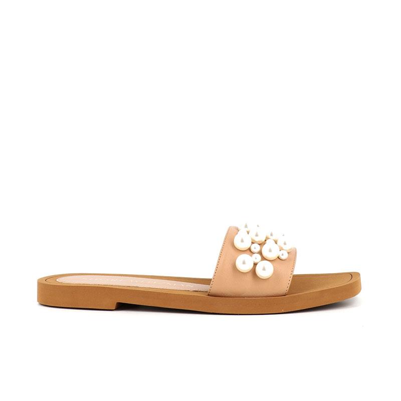 stuart weitzman sandales Slides GoldieSW GOLDIE SLIDE - CUIR ET ACCESS