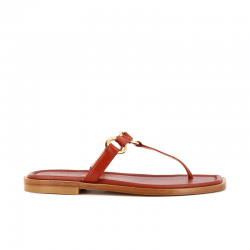 stuart weitzman sandales Sandales LalitaSW LALITA FLAT - CUIR - ROUGE FO