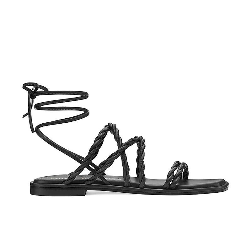 stuart weitzman sandales Sandales à lacetsSW CALYPSO LACE-UP - CUIR ET CUI