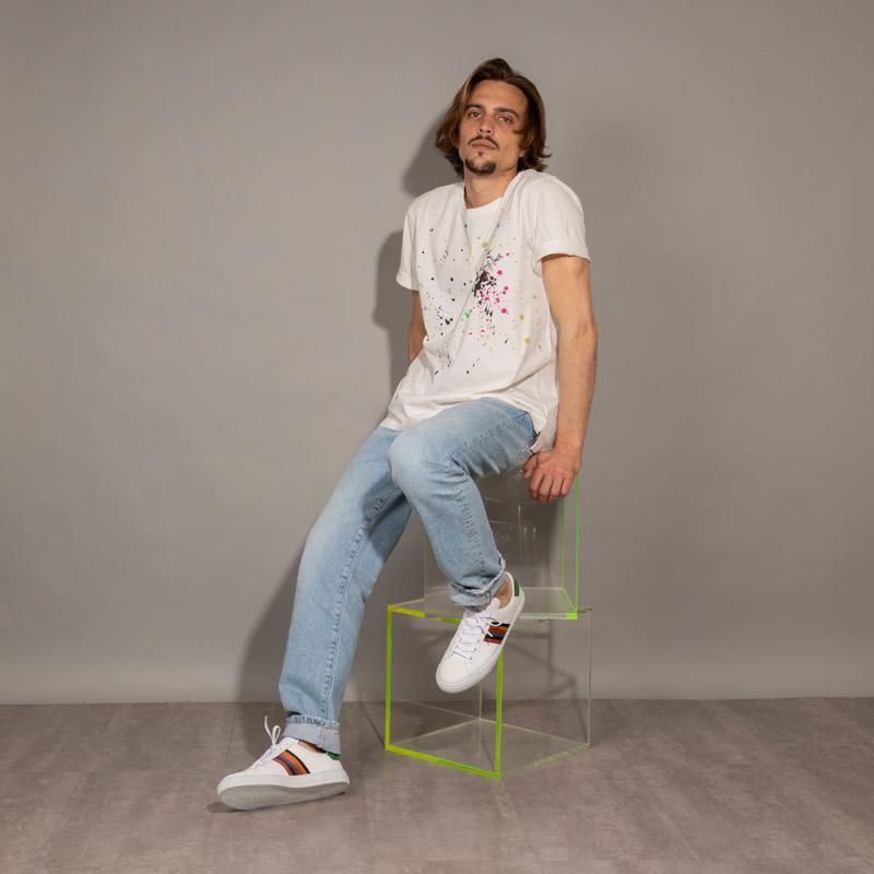 paul smith sneakers Sneakers HansenPS SNEAK HANSEN - CUIR - BLANC,