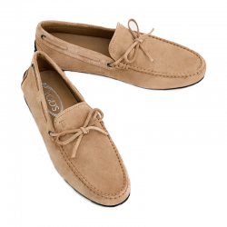 tod's mocassins et slippers Mocassins City Gommino à lacetsBABYLONE 3 - NUBUCK - BEIGE