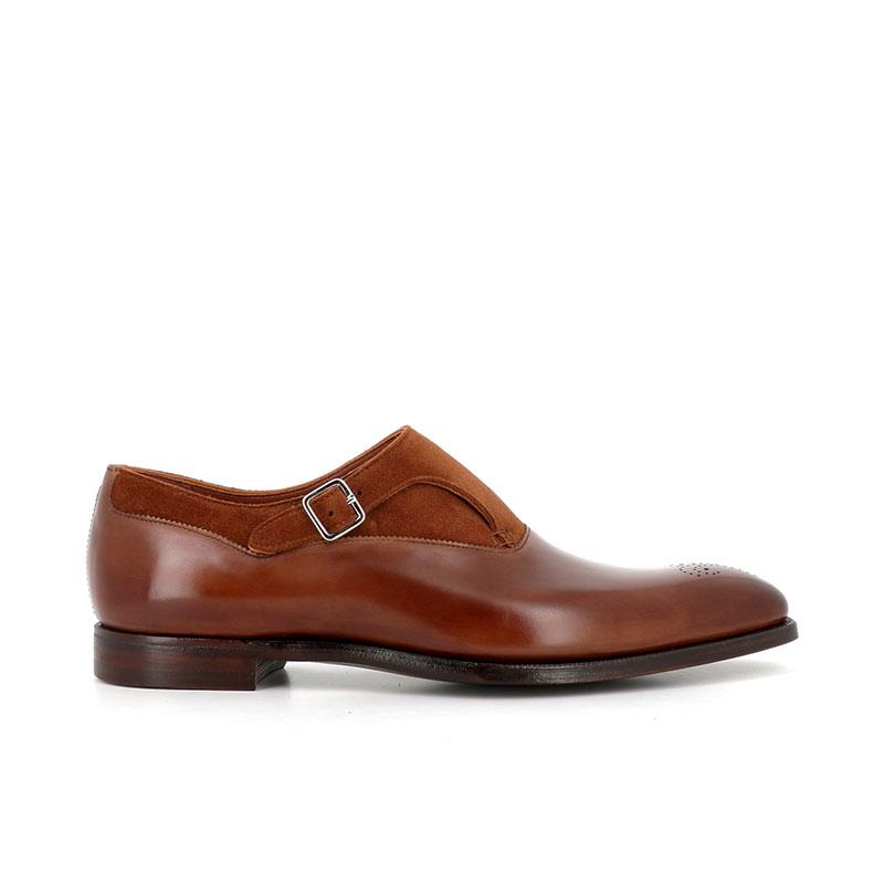 crockett & jones chaussures à boucles Chaussures à boucles WinstonC&J WINSTON - REVERSE CALF - TAN