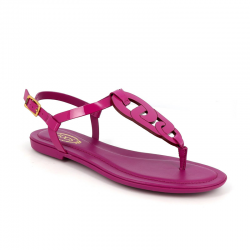 tod's sandales tod's np catenaTOD'S NP CATENA - CUIR - FUSCHIA