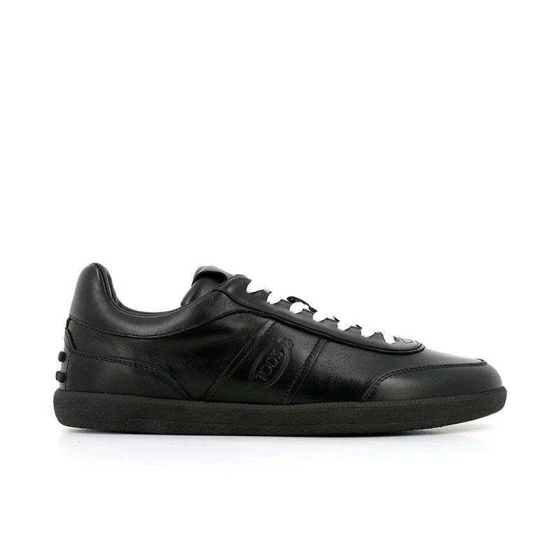 tod's sneakers tod's sneakerTOD'S SNEAKER - CUIR - NOIR ET L