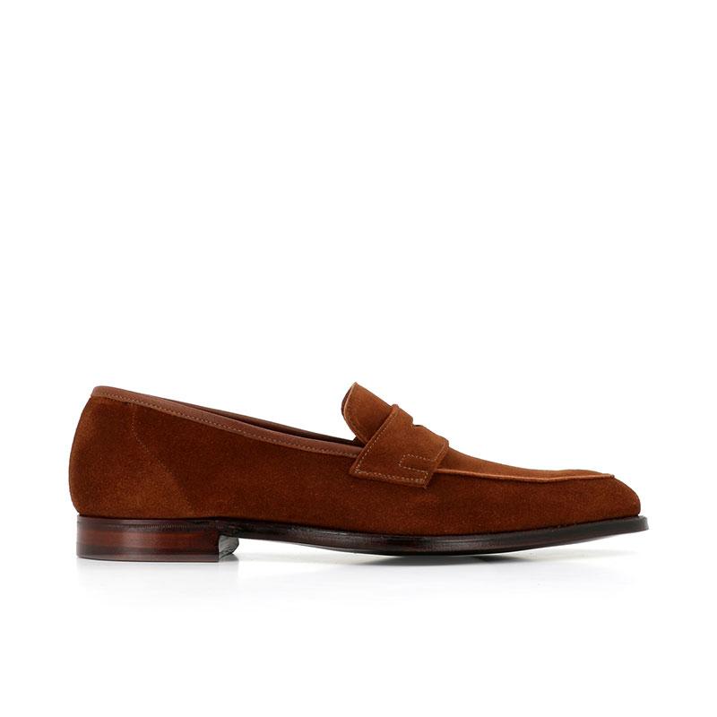 crockett & jones mocassins et slippers Mocassins CadoganC&J CADOGAN - CALF SUEDE - TOBAC
