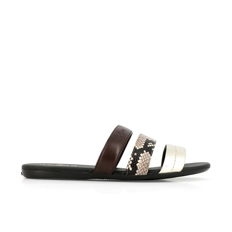 hogan sandales Sandales SlidesVALMA (2) - CUIR ET CUIR IMPRIMÉ