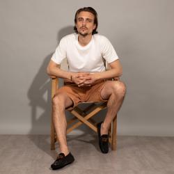 tod's mocassins et slippers Mocassins GomminoTT - CUIR GLACÉ - NOIR  ET BANDE