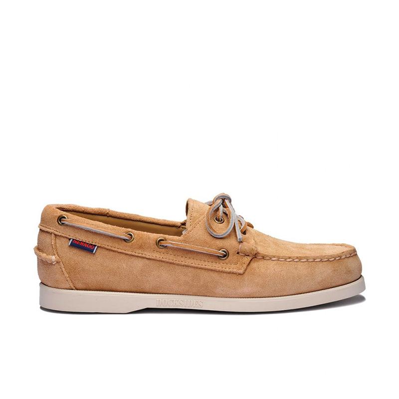 sebago chaussures bateau DocksidesDOCK FEM NUB - NUBUCK - BEIGE CA