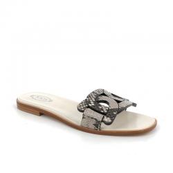 tod's sandales Sandales Mules CatenaTOD'S MULE CATENA - PYTHON - GRI