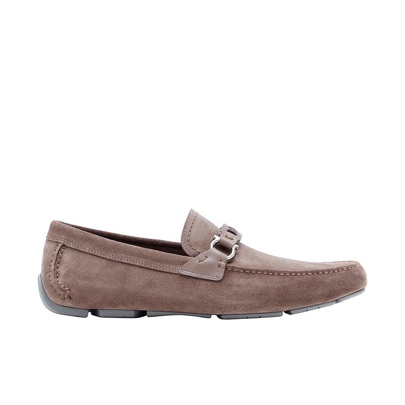 salvatore ferragamo mocassins et slippers MocassinsSF H MOC STUART - SUEDE - TAUPE