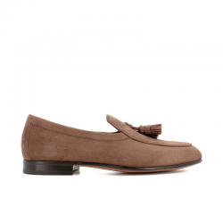 santoni mocassins et slippers Mocassins HollywoodHOLLYWOOD - NUBUCK - TAUPE