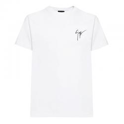 giuseppe zanotti t-shirts & débardeurs T-shirt logo signatureGZV H T-SHIRT - COTON - BLANC ET