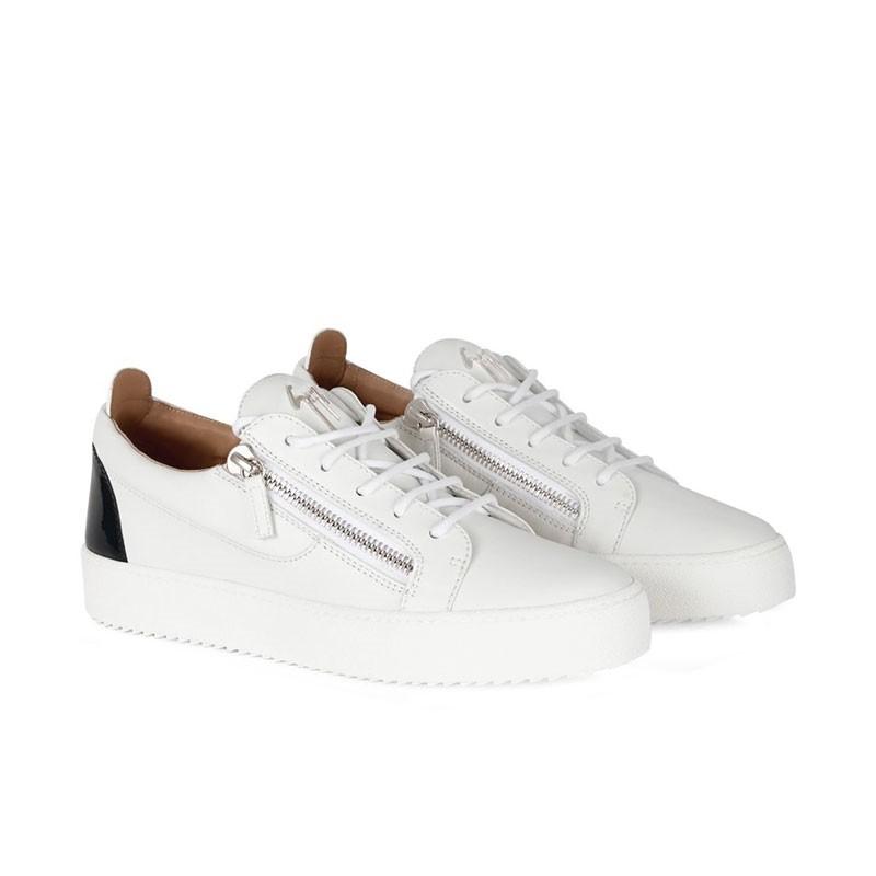 giuseppe zanotti sneakers Sneakers FrankieGZ H FRANKIE - CUIR - BLANC ET D