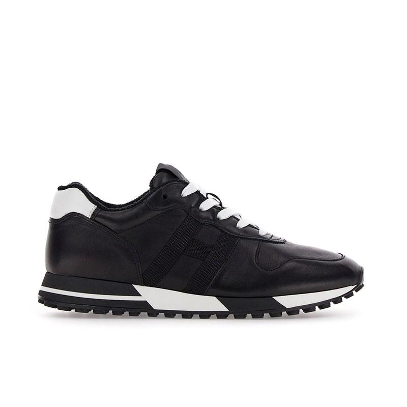 hogan sneakers Sneakers H383HH H383 (1) - CUIR - NOIR ET DÉT
