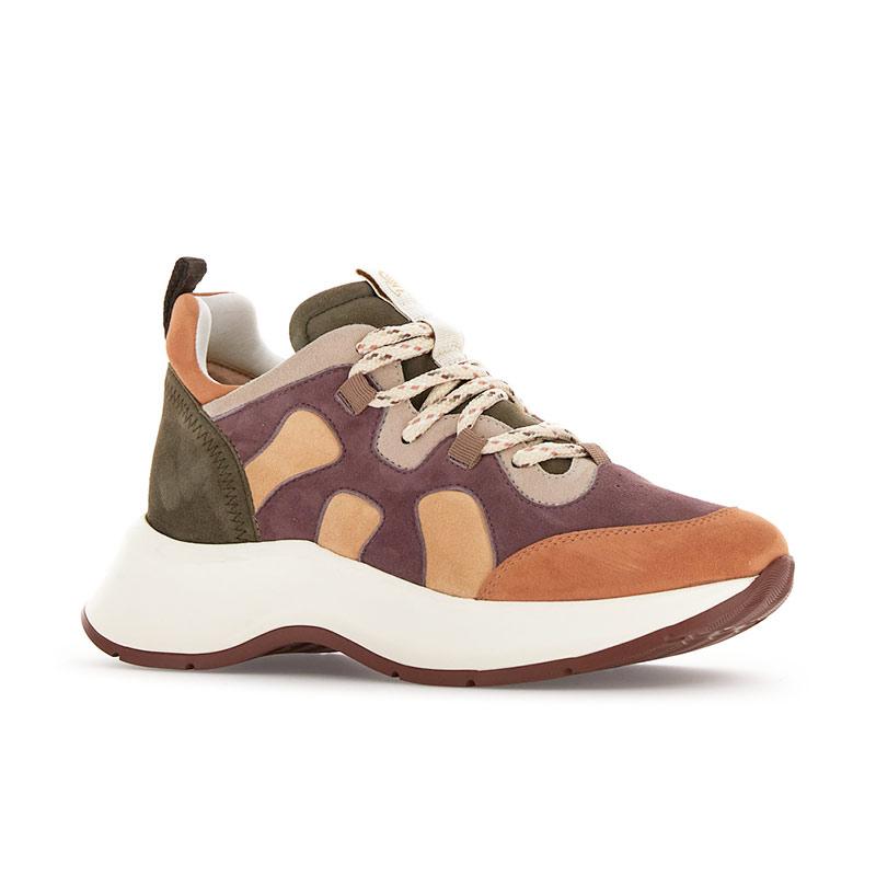 hogan sneakers Sneakers H585HF H585 - NUBUCK TRICOLORE - ORA