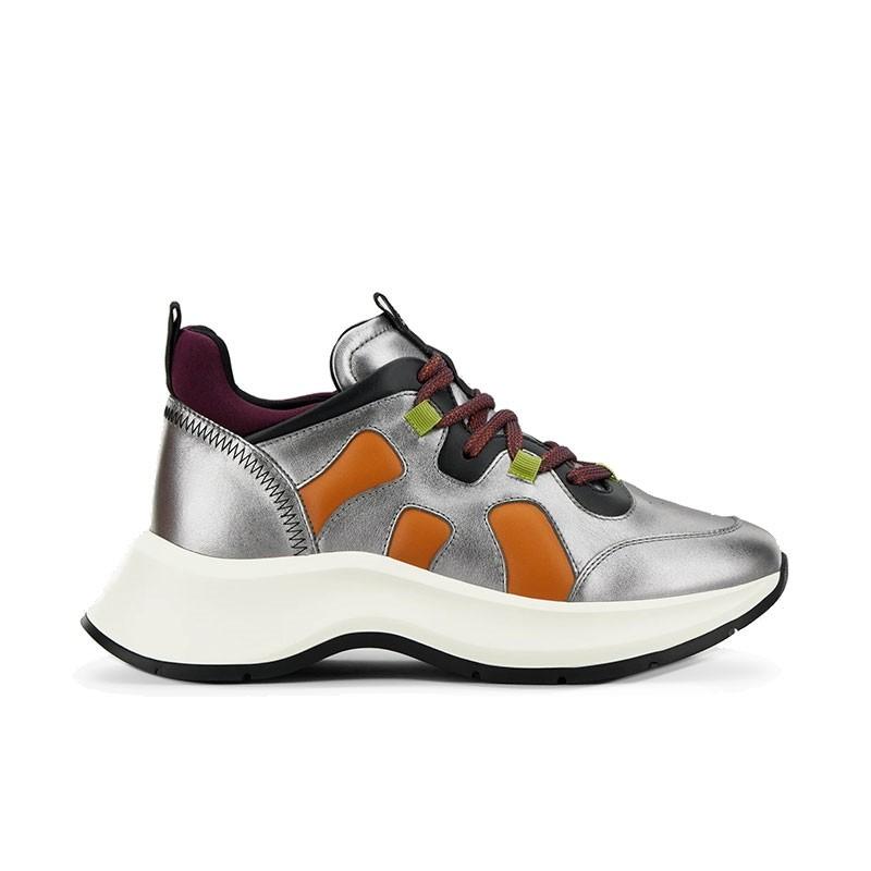 hogan sneakers Sneakers H585HF H585 - CUIR IRISÉ - ARGENT ET