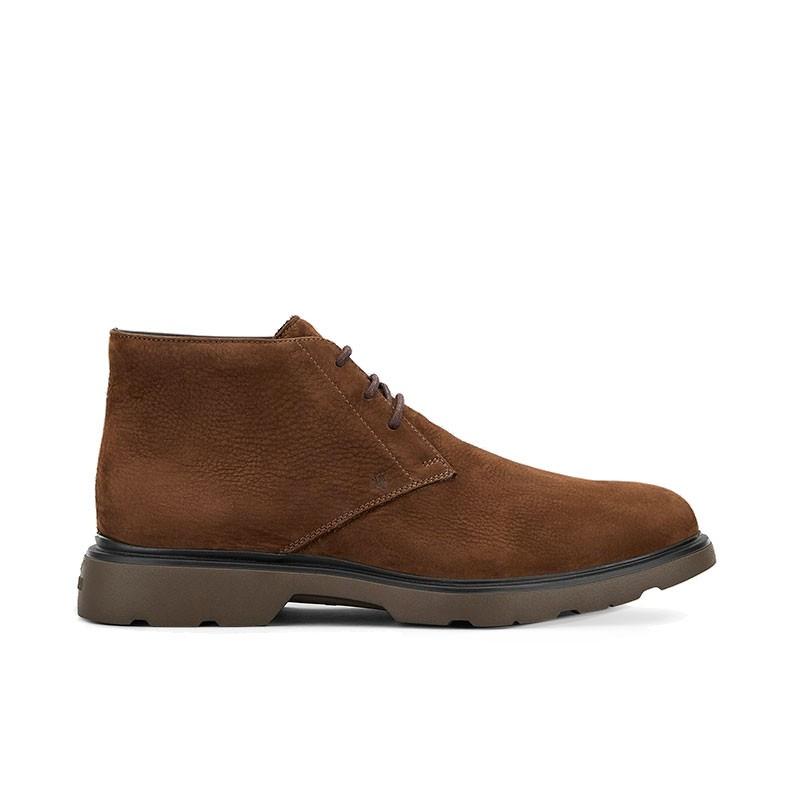 hogan boots et bottillons Bottines à lacetsBARBO 2 - NUBUCK - MARRON (2)