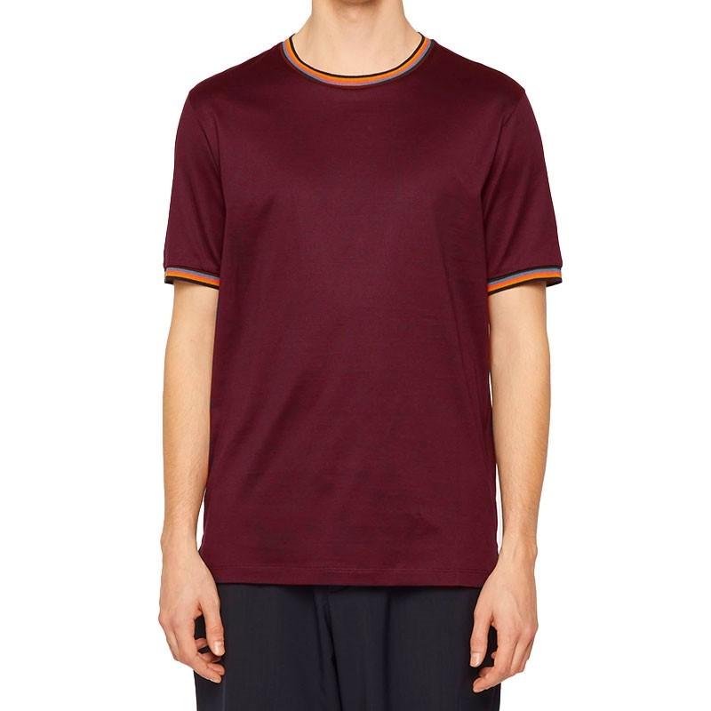 paul smith t-shirts & débardeurs T-shirt Coton 348PSV T-SHIRT 348 - COTON - BORDEA