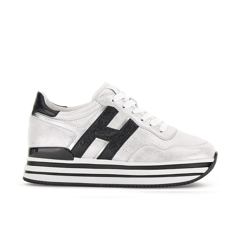 hogan sneakers Sneakers H222ELIUM - CUIR IRISÉ - BLANC HIVER