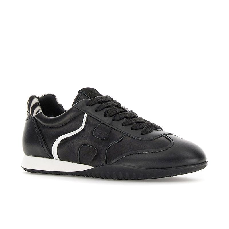 hogan sneakers Sneakers Olympia ZHF OLYMPIA Z - CUIR - NOIR ET DÉ