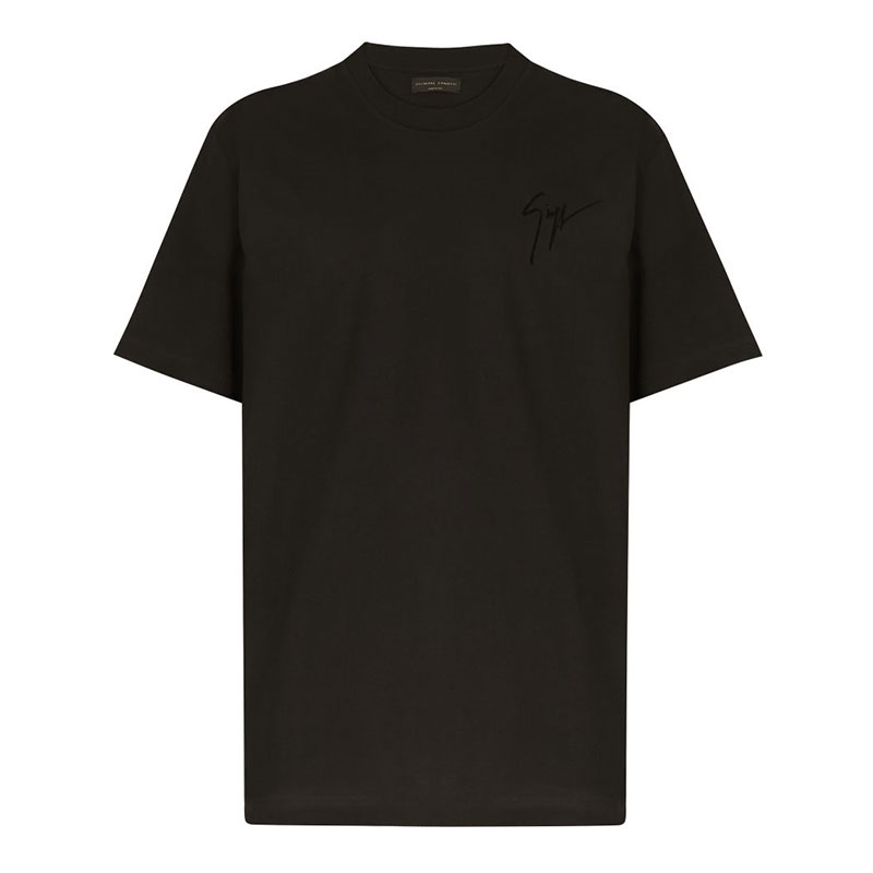 giuseppe zanotti t-shirts & débardeurs T-shirt logo signatureGZV H T-SHIRT - COTON - NOIR ET