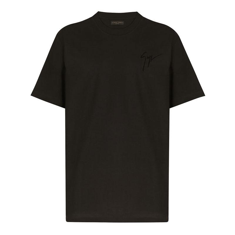 giuseppe zanotti t-shirts et débardeurs T-shirt logo signatureGZV H T-SHIRT - COTON - NOIR ET