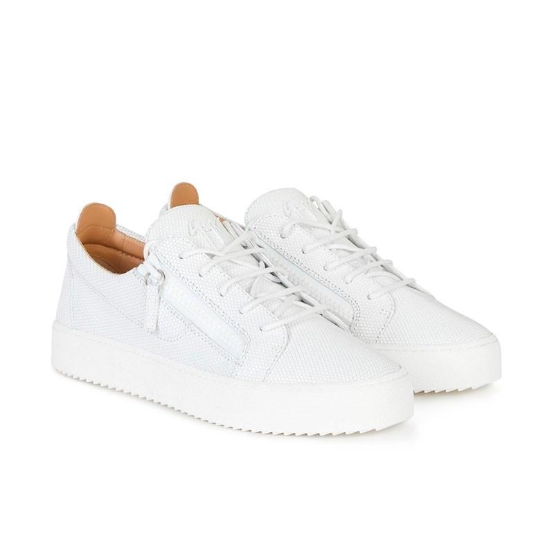 giuseppe zanotti sneakers Sneakers FrankieGZ H FRANKIE - CUIR IMPRIMÉ LAZE