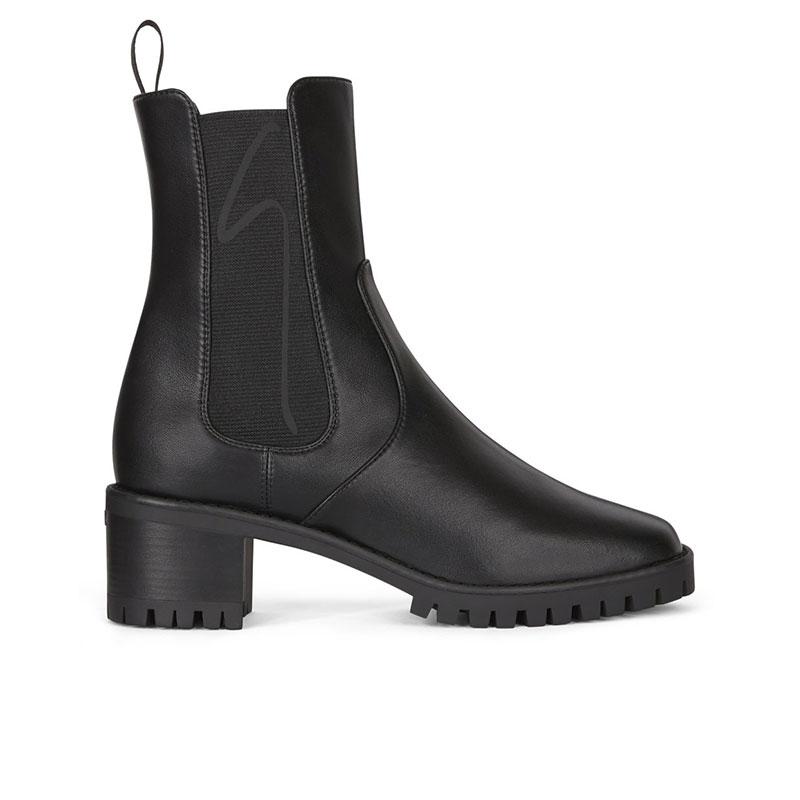 giuseppe zanotti bottines Boots ElasGZ F BOOTS ELAS T5 - CUIR - NOIR