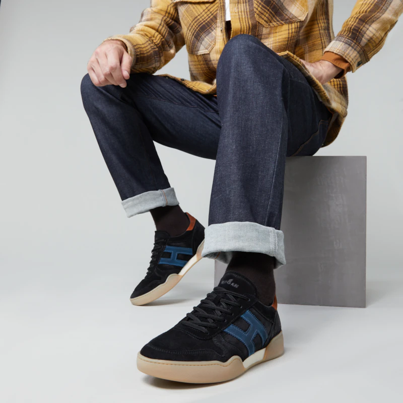 hogan sneakers Sneakers H357HH H357 - NUBUCK VIEILLI - NOIR