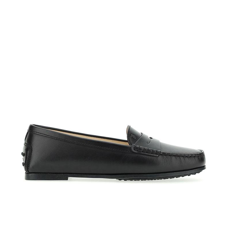tod's mocassins & slippers Mocassins City GomminoBROKA - CUIR - NOIR