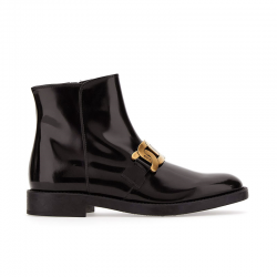 tod's bottines Boots todzel catenaTODZEL CATENA - CUIR GLACÉ ET AC